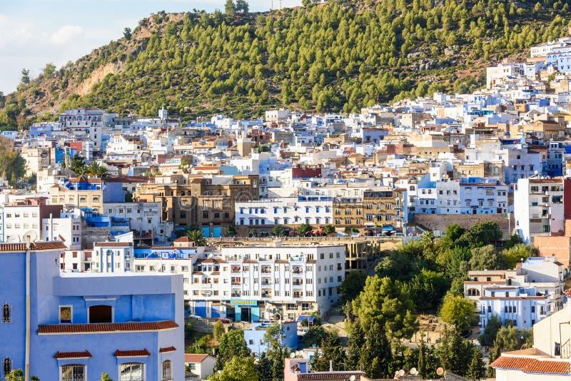 Architettura di Chefchaouen, Marocco fotografia stock libera da diritti