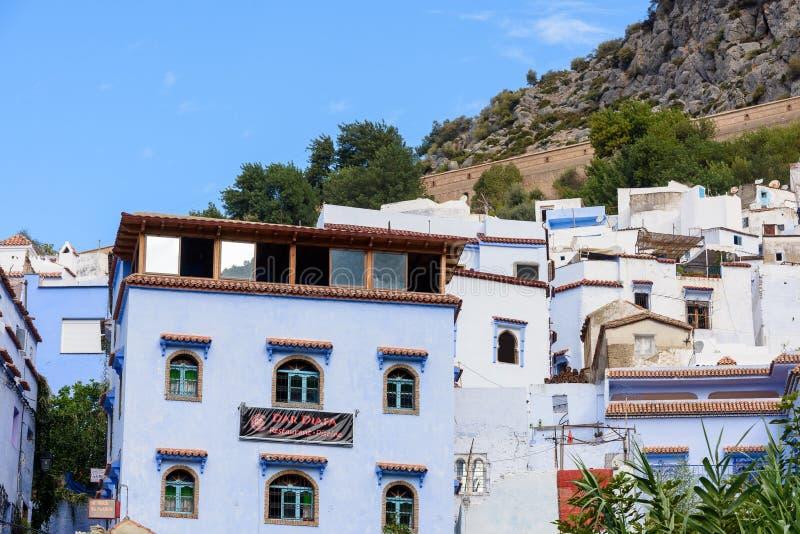 Architettura di Chefchaouen, Marocco immagini stock