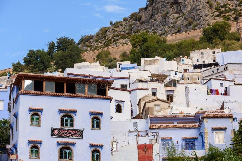 Architettura di Chefchaouen, Marocco immagine stock libera da diritti
