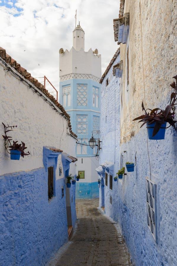 Architettura di Chefchaouen, Marocco fotografie stock libere da diritti