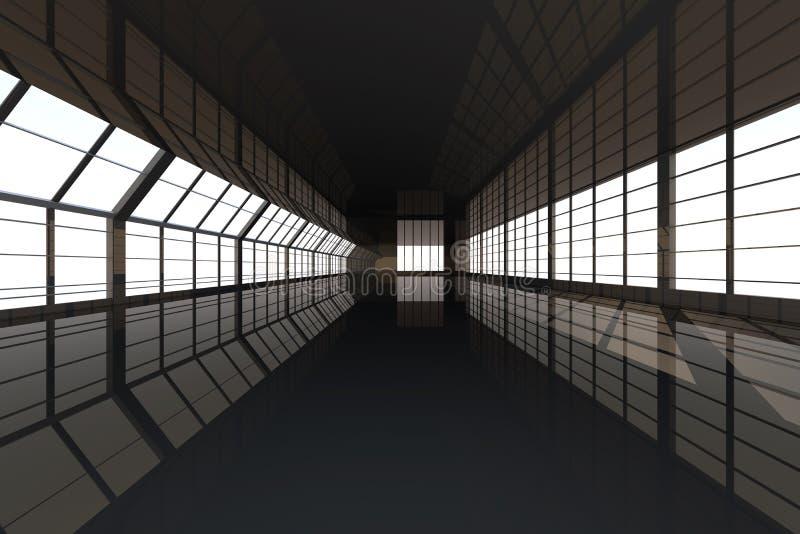 Architettura di corridoio illustrazione di stock