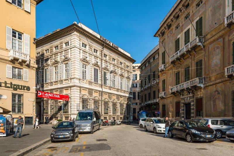 Architettura di Genova, Ligury, Italia immagine stock