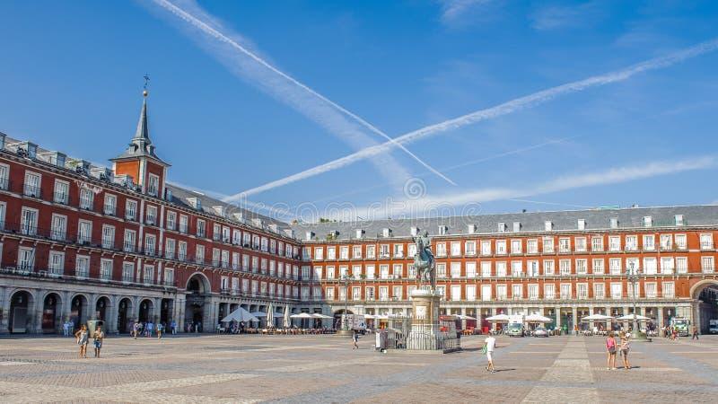 Architettura di Madrid, la capitale della Spagna fotografia stock libera da diritti