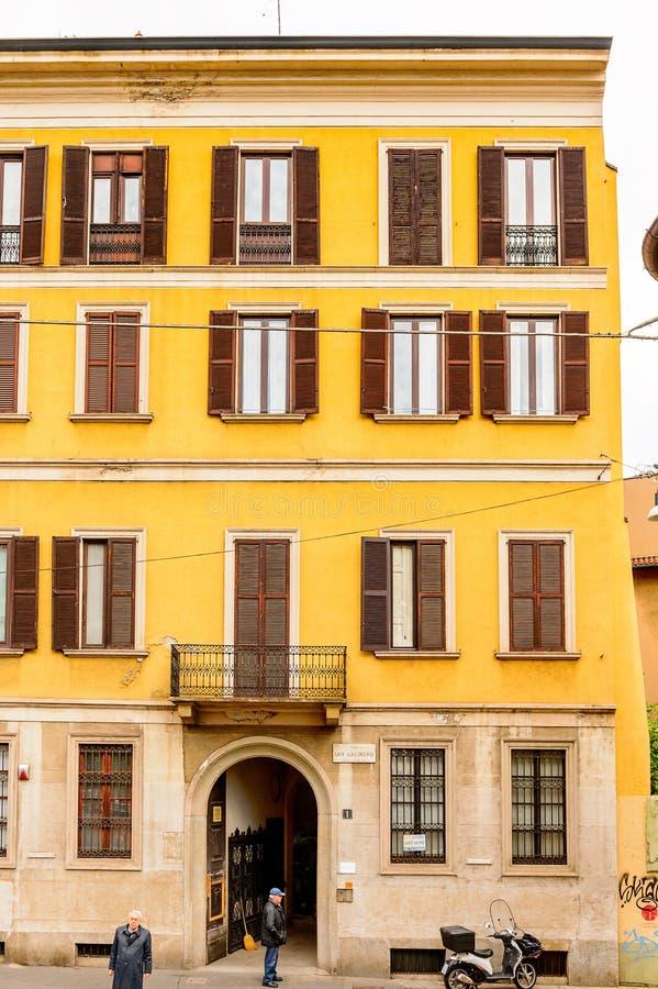 Architettura di Milano, Italia fotografia stock libera da diritti