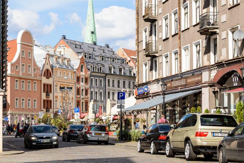 Architettura di Riga, Lettonia fotografia stock
