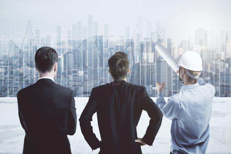 Architettura e concetto di occupazione immagine stock