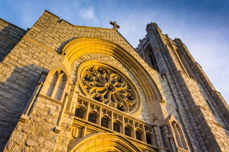 Architettura esteriore incredibile ad una chiesa a Hannover, Pennsy immagini stock libere da diritti