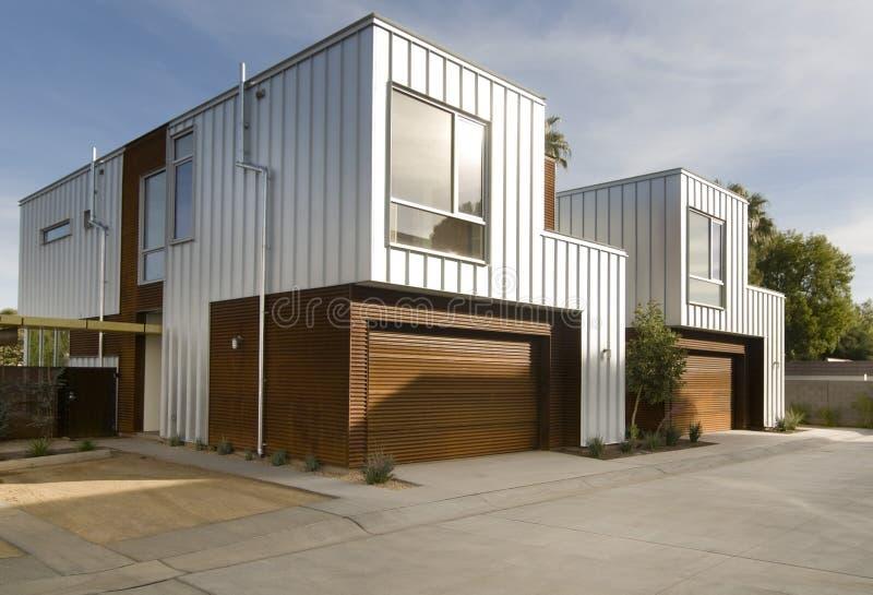 architettura esterna domestica moderna fotografia stock