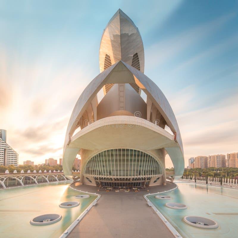 Architettura europea moderna, Valencia fotografia stock libera da diritti