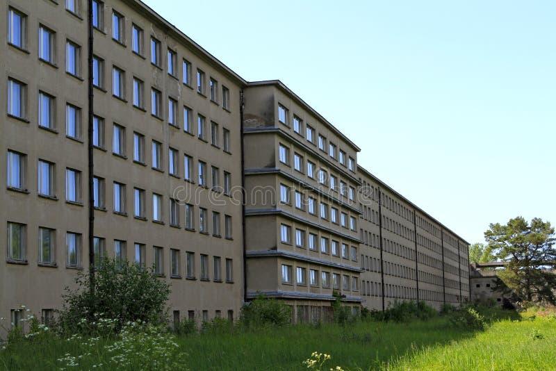 Architettura fascista a Prora, isola di Ruegen immagine stock
