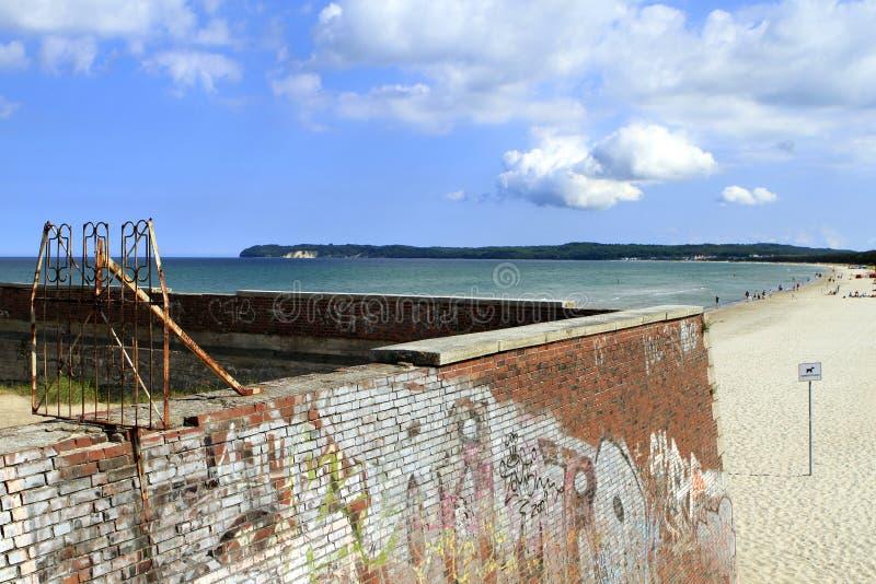Architettura fascista a Prora, isola di Ruegen fotografie stock