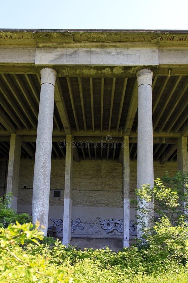 Architettura fascista a Prora, isola di Ruegen fotografia stock