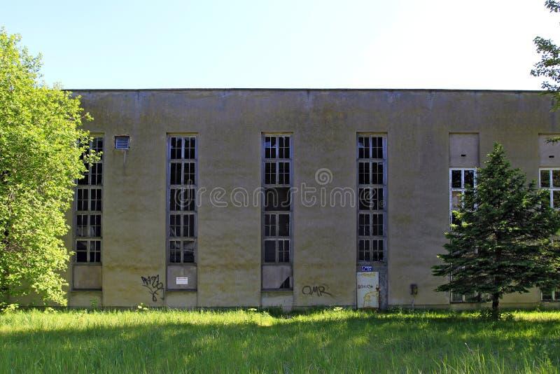 Architettura fascista a Prora, isola di Ruegen fotografie stock libere da diritti