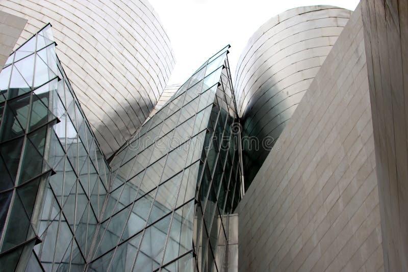 Architettura futuristica a Bilbao (Spagna) fotografia stock libera da diritti