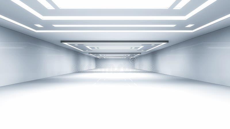 Architettura futuristica del corridoio royalty illustrazione gratis