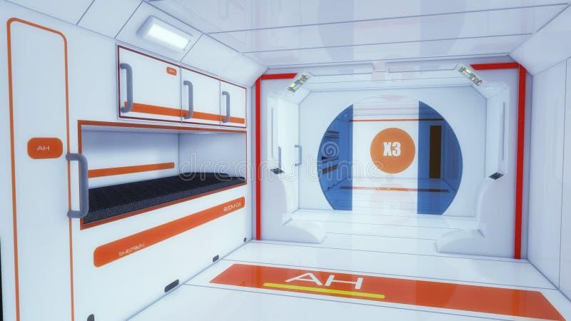 Architettura futuristica del corridoio illustrazione vettoriale