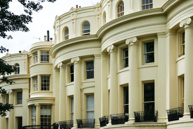 Architettura iconica Brighton Regno Unito della reggenza di periodo fotografie stock libere da diritti