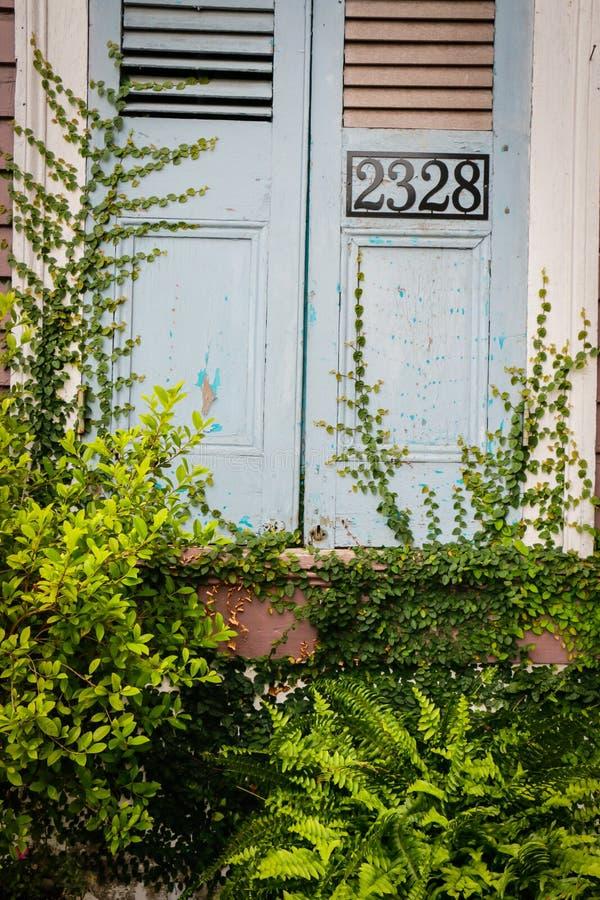 Architettura invasa di New Orleans fotografia stock libera da diritti