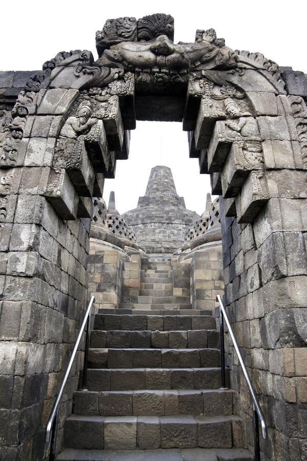 Architettura Java Indonesia del tempiale di Borobudur fotografie stock