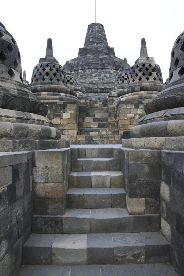 Architettura Java Indonesia del tempiale di Borobudur fotografia stock