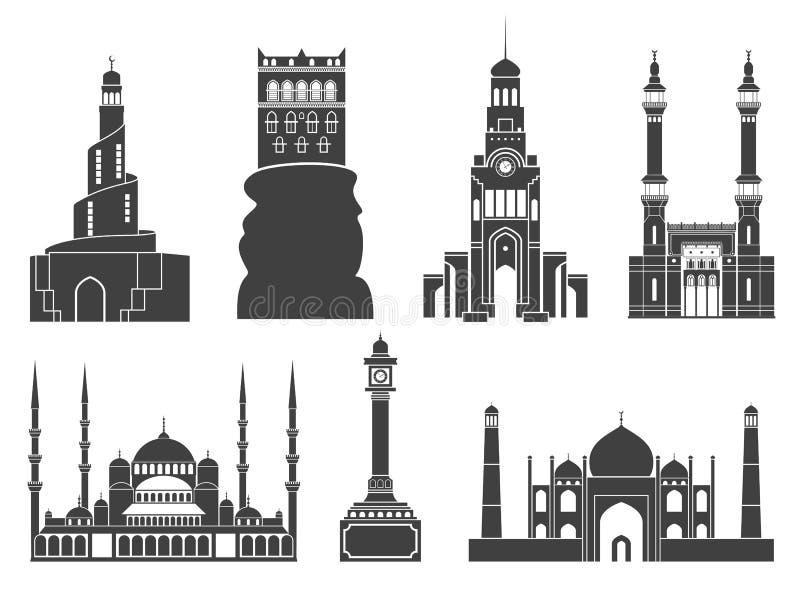 Architettura L'Asia occidentale royalty illustrazione gratis