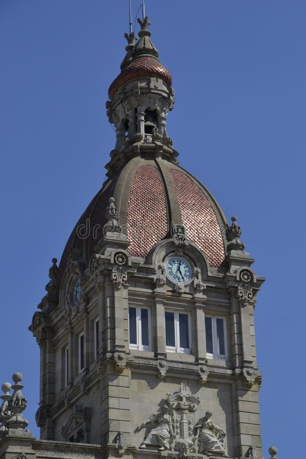 Architettura in La Coruna Spagna immagini stock