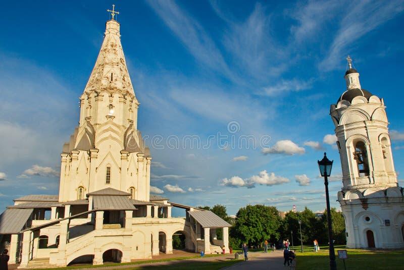 Architettura meravigliosa e bellezza naturale nella riserva Kolomenskoye del museo a Mosca fotografia stock