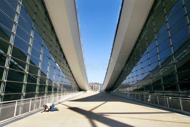 Architettura moderna astratta fotografia stock