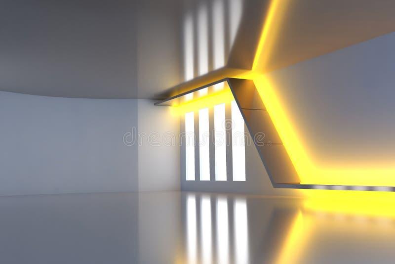 Architettura moderna astratta futuristica illustrazione di stock