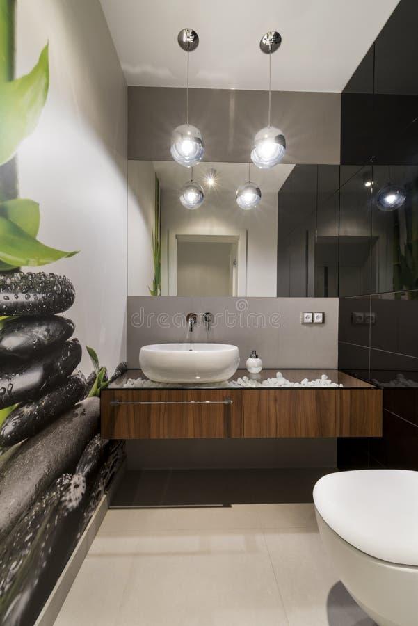 Architettura moderna di interior design del lavabo fotografie stock libere da diritti