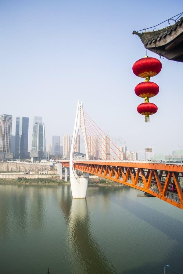 Architettura moderna e ponte fotografia stock