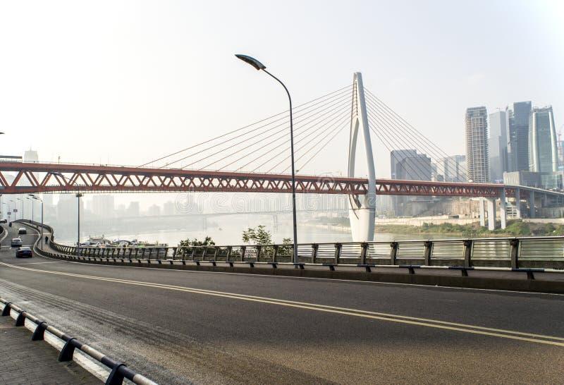 Architettura moderna e ponte immagini stock