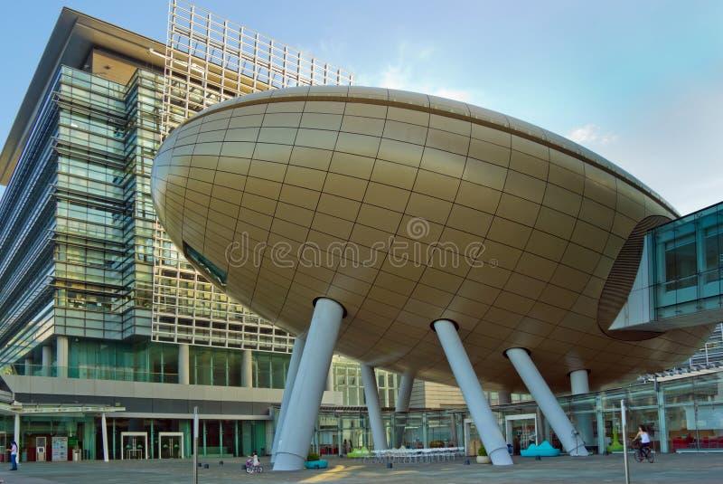 Architettura moderna nei parchi scientifici di Hong Kong immagini stock libere da diritti