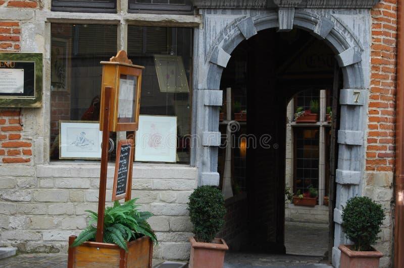 Architettura nella parte storica di Bruxelles, Belgio immagini stock
