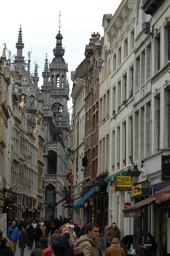 Architettura nella parte storica di Bruxelles, Belgio immagine stock