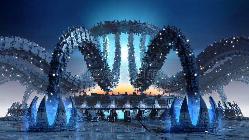 Architettura organica di fantascienza illustrazione di for Programmi architettura 3d
