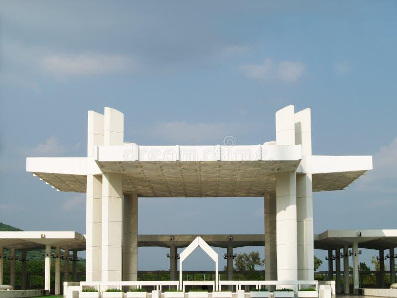 Architettura pakistana della moschea fotografia stock