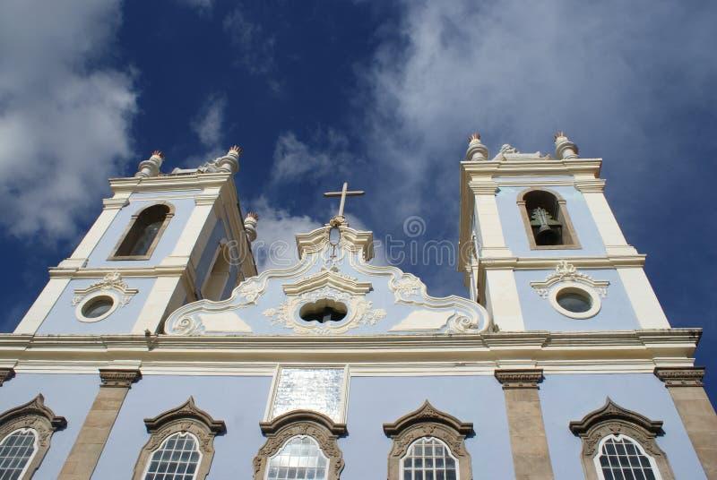Architettura Pelourinho Salvador Brazil della chiesa immagini stock