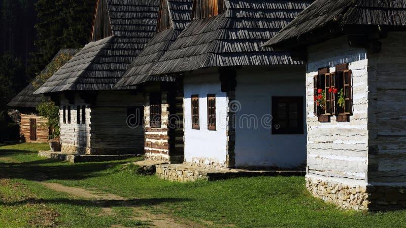 Architettura piega tradizionale del villaggio, Martin, Slovacchia immagine stock