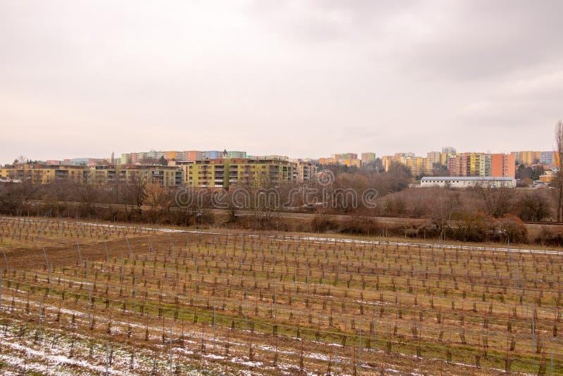 Architettura socialista comunista Dettaglio architettonico e modello del sociale residenziali degli appartamenti Ritratto dell'so immagini stock libere da diritti