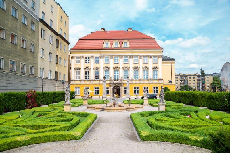 Architettura in stile Royal Palace Baroque a Breslavia, Polonia fotografie stock