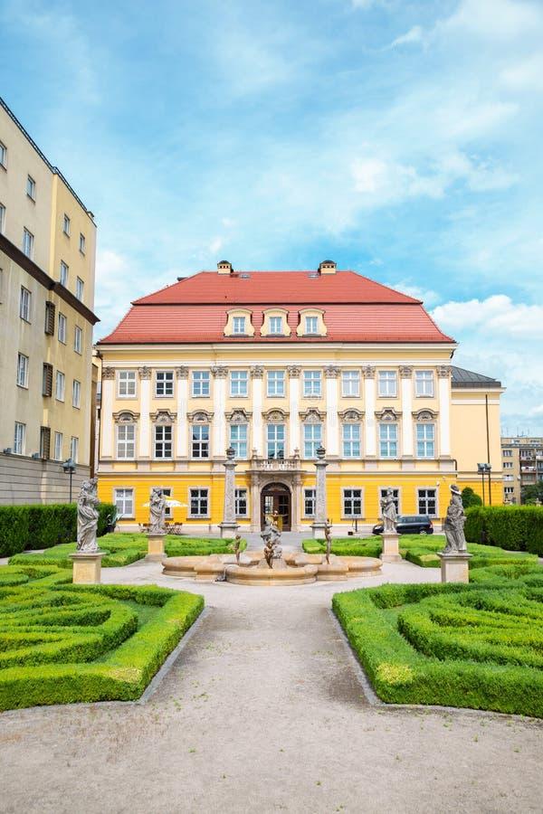 Architettura in stile Royal Palace Baroque a Breslavia, Polonia immagini stock libere da diritti