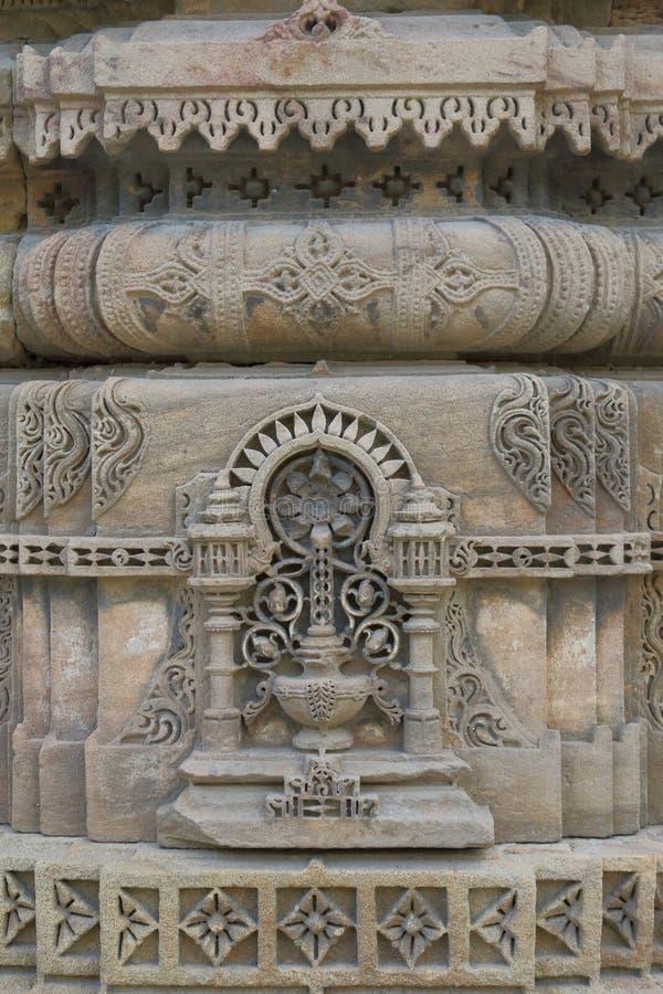 Architettura storica antica islamica, scultura di pietra artistica immagine stock