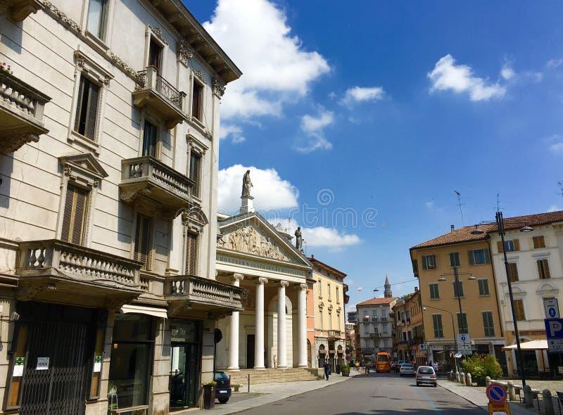 Architettura storica classico di Cremona Italia, romano & immagine stock
