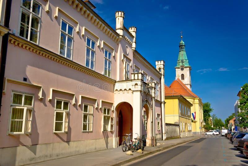 Architettura storica della città Bjelovar fotografie stock libere da diritti