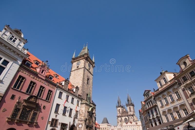 Architettura storica di Prag fotografie stock libere da diritti