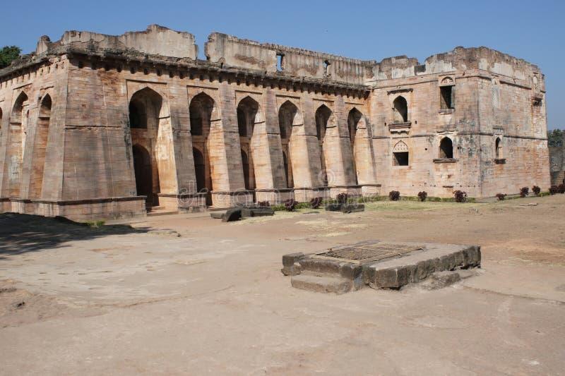 Architettura storica, hindola mahal immagine stock