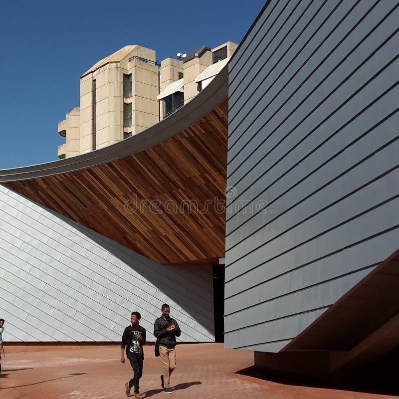 Architettura sull'università di città universitaria di Johannesburg immagini stock libere da diritti