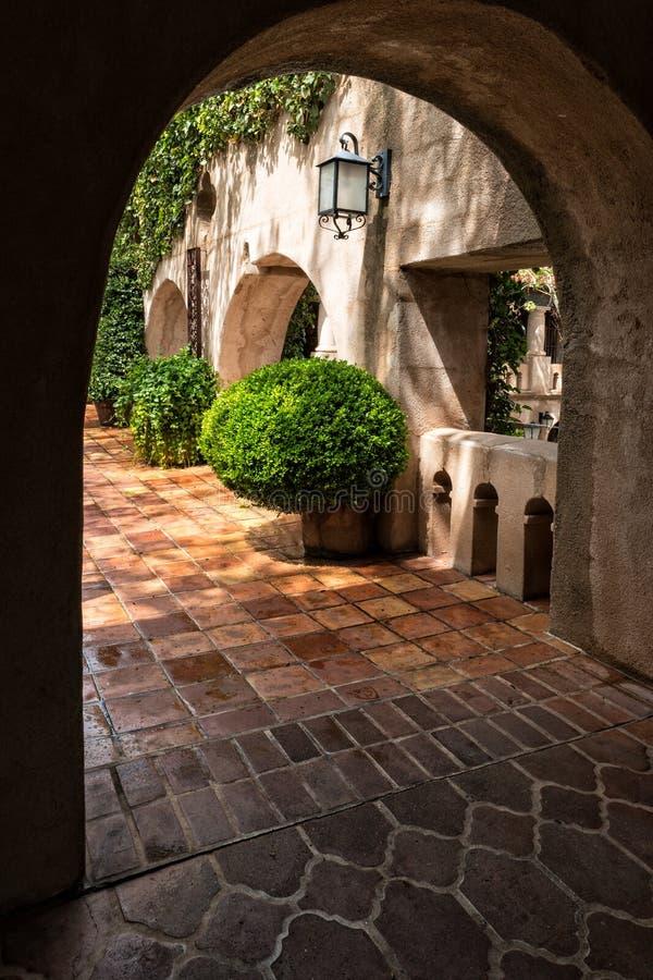 Architettura unica, Tlaquepaque in Sedona, Arizona fotografie stock