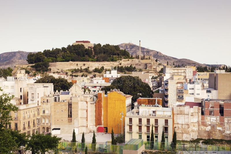 Architettura variopinta di Cartagine fotografia stock libera da diritti
